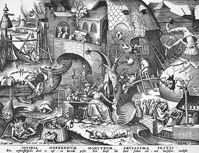 Seven Deadly Sins, 1558 Art Print by Granger