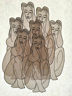 Drawing - Seven Deadly Sins Study by Marwan George Khoury