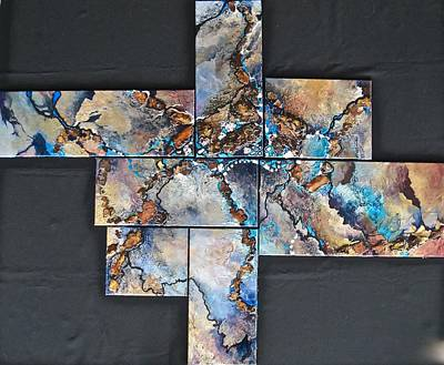 Mixed Media - Seven Degrees Of Separation by Bonny Roberts