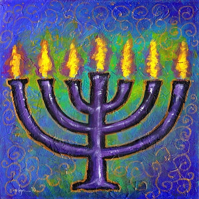 Art Print featuring the painting Seven Flames by Angela Treat Lyon