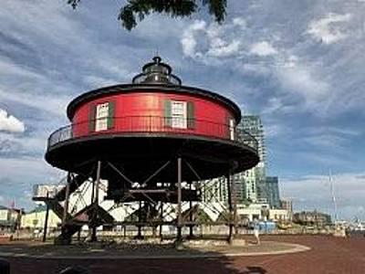 Studio Grafika Zodiac - Seven Foot Knoll Lighthouse in Baltimore by Kenlynn Schroeder