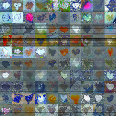 Grid Of Heart Photograph - Seven Hundred Series by Boy Sees Hearts