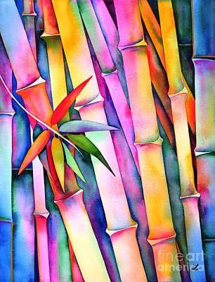 Painting - Seven Leaves Of Bamboo 2 by Zaira Dzhaubaeva