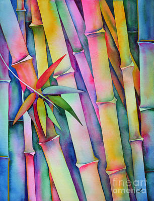 Painting - Seven Leaves Of Bamboo by Zaira Dzhaubaeva