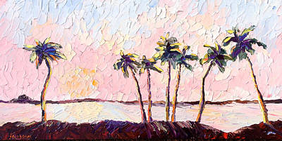 Painting - Seven Palms by Carrie Jacobson