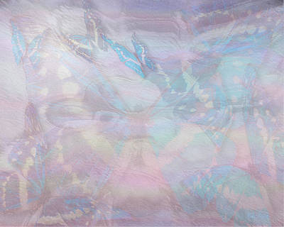 Digital Art - Seven Pearls Flutter By by Mike Braun