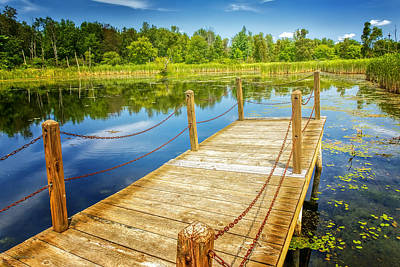 Photograph - Seven Ponds Nature Center Water Fowl Refuge Dock by LeeAnn McLaneGoetz McLaneGoetzStudioLLCcom