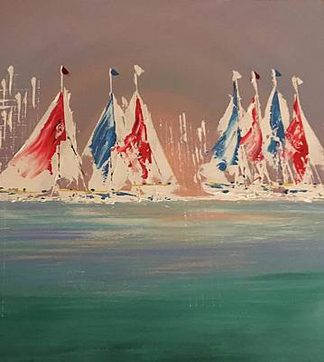 Painting - Seven Sails To Win by George Riney