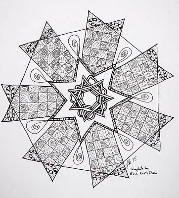 Drawing - Seven-sided Star by Lori Kingston