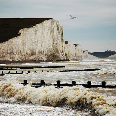 Seven Sisters Chalk Cliffs Art Print by Peter Funnell