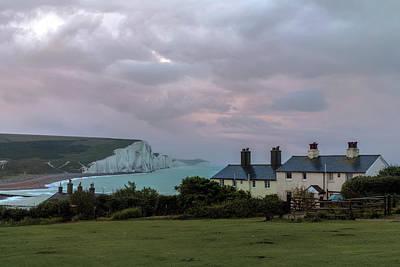 Coastguard Cottages Photograph - Seven Sisters Dawn  - England by Joana Kruse