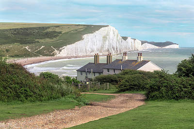 Down East Photograph - Seven Sisters - England by Joana Kruse