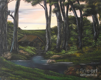 Stature Painting - Seven Sisters Secret Retreat by Cynthia Adams
