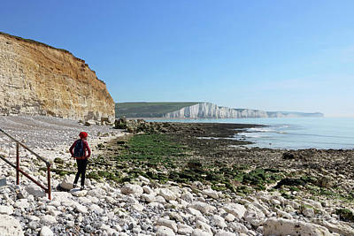 Photograph - Seven Sisters View East Sussex by Julia Gavin