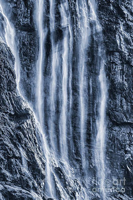Seven Sisters Waterfall Geirangerfjord Norway Print by John Potter