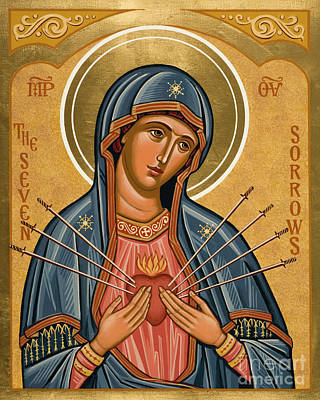 Painting - Seven Sorrows - Jcsso by Joan Cole