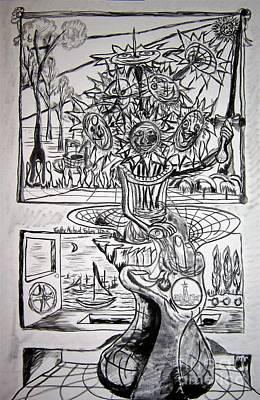 Seven Sunflower Sword Original by Timothy Michael Foley