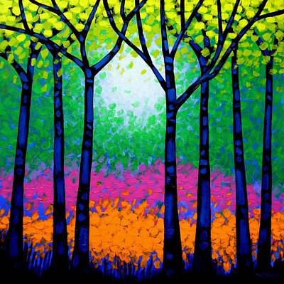 Emotive Painting - Seven Trees by John  Nolan