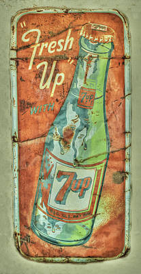 Seven-up Sign Photograph - Seven Up Fresh Up by Douglas Settle