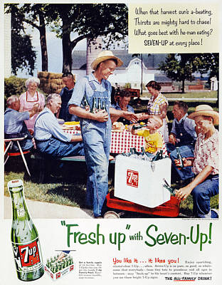 Photograph - Seven-up Soda Ad, 1954 by Granger