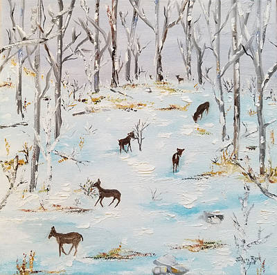 Painting - Seven Whitetail by Judith Rhue
