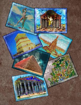 Zeus Mixed Media - Seven Wonders Of The Ancient World by Edelberto Cabrera