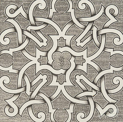 Repeat Drawing - Seventeenth Century Design For Parterre by Jacques Mollet