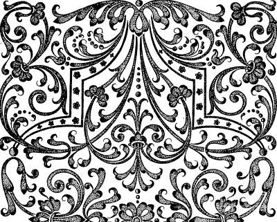 Repeat Drawing - Seventeenth Century Parterre Pattern Design by Jacques Mollet