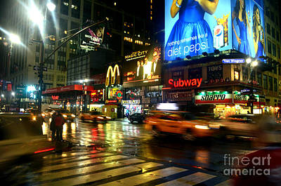 Photograph - Seventh Avenue New York City by Christopher Shellhammer
