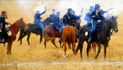Seventh Cavalry In Action Art Print by David Lee Thompson