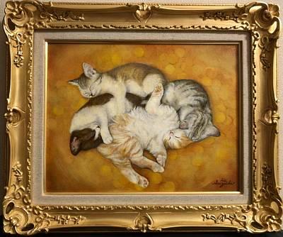 Cats Painting - Seventh Heaven by Hiroyuki Suzuki