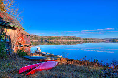 Canoes Photograph - Seventh Lake View by David Patterson