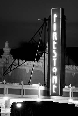 Photograph - Seventh Street Firestone Bw by Rospotte Photography