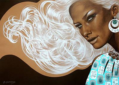 Drawing - Seventies Beauty by Eka Gotsiridze