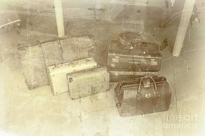 Old Objects Photograph - Several Vintage Bags On Floor by Jorgo Photography - Wall Art Gallery