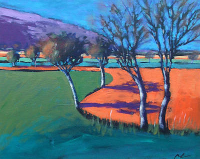 Vivid Colour Painting - Severn Stoke by Paul Powis