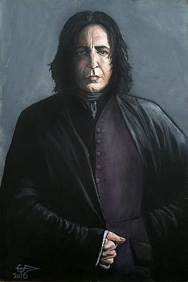 Harry Painting - Severus Snape by Tom Carlton
