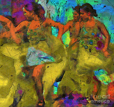 Ebsq Digital Wall Art - Digital Art - Sevillanas by Dee Flouton