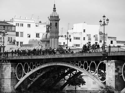 Seville - A View Of Triana Bridge Art Print by Andrea Mazzocchetti