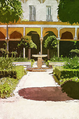 Painting - Seville, Andalusian Patio - 02 by Andrea Mazzocchetti