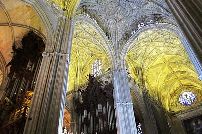 Photograph - Seville Cathedral Ceiling Spain by John Shiron