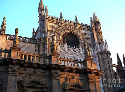 Photograph - Seville Cathedral Facade by John Rizzuto
