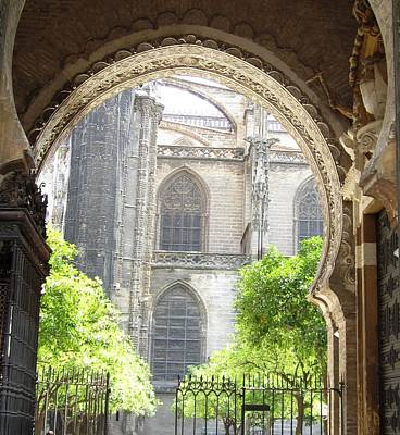 Photograph - Seville Cathedral Ix Spain by John Shiron