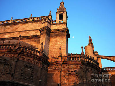 Photograph - Seville Cathedral Morning Colors by John Rizzuto