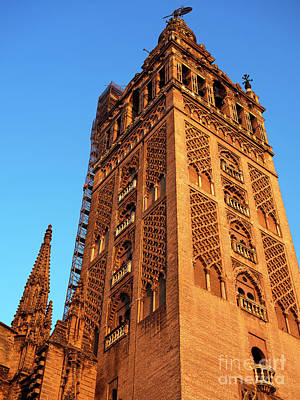 Photograph - Seville Cathedral Tower by John Rizzuto