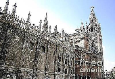 Photograph - Seville Cathedral Xii Giralda Tower Spain by John Shiron