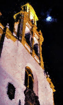 Painting - Seville, Church Of Santa Cruz - 02 by Andrea Mazzocchetti