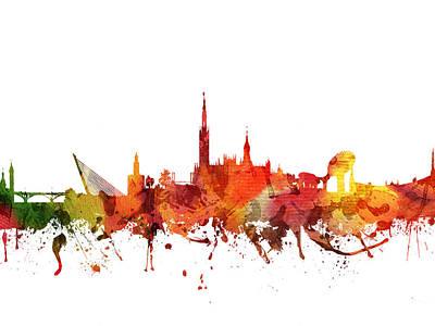 Seville Cityscape 04 Art Print