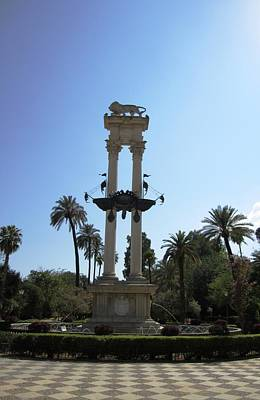 Photograph - Seville Cristobal Colon Monument Spain by John Shiron
