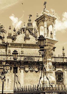Western Art - Seville - Detail from Plaza del Triunfo by AM FineArtPrints